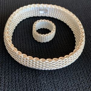 Tiffany & Co. Jewelry - Tiffany Silver Bracelet with Matching Ring